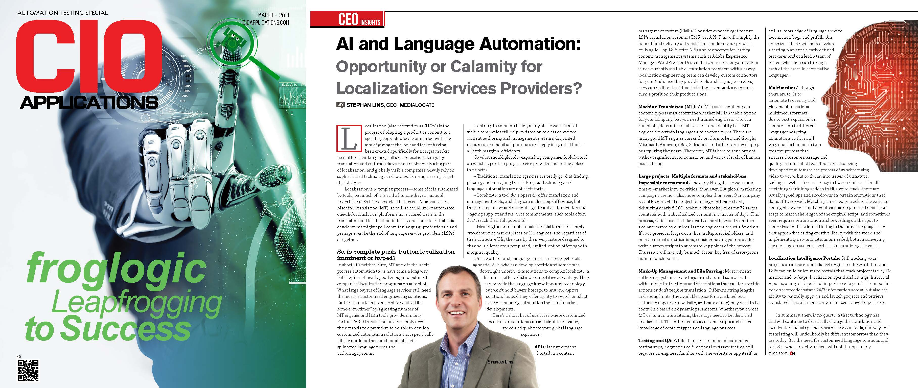 AI and Language Automation:  Opportunity or Calamity?